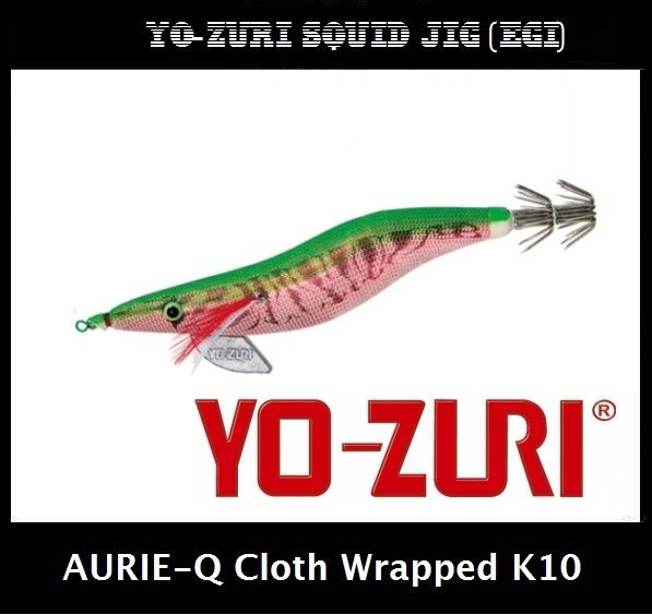 Yo-zuri Aurie-Q Cloth Wrapped Squid Jig Egi K10