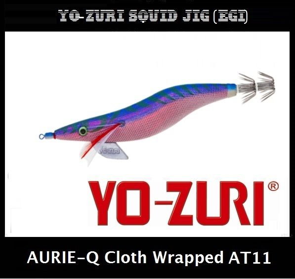 Yo-zuri Aurie-Q Cloth Wrapped Squid Jig Egi AT11