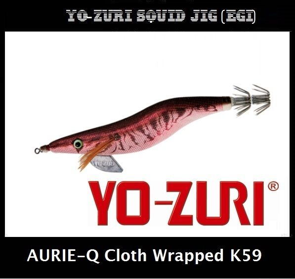 Yo-zuri Aurie-Q Cloth Wrapped Squid Jig Egi K59