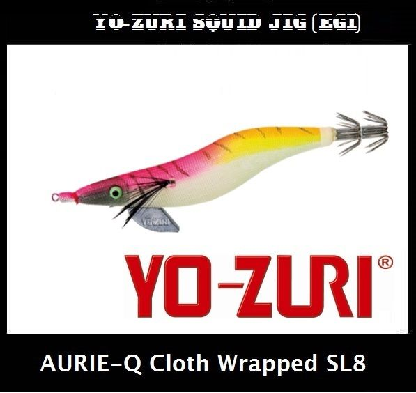 Yo-zuri Aurie-Q Cloth Wrapped Squid Jig Egi SL8