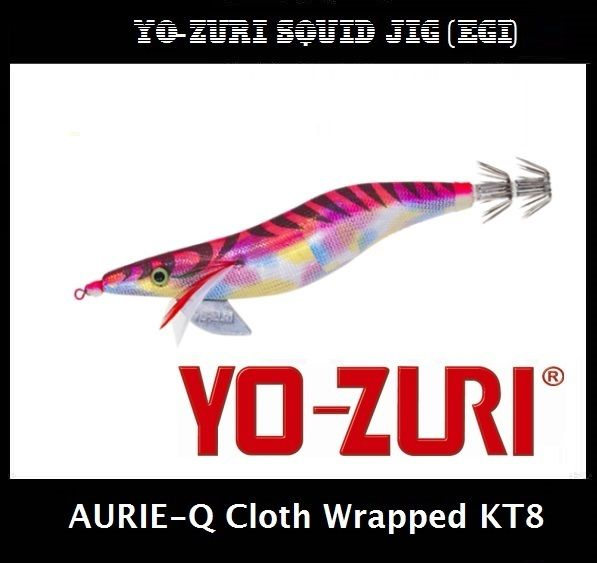 Yo-zuri Aurie-Q Cloth Wrapped Squid Jig Egi KT8