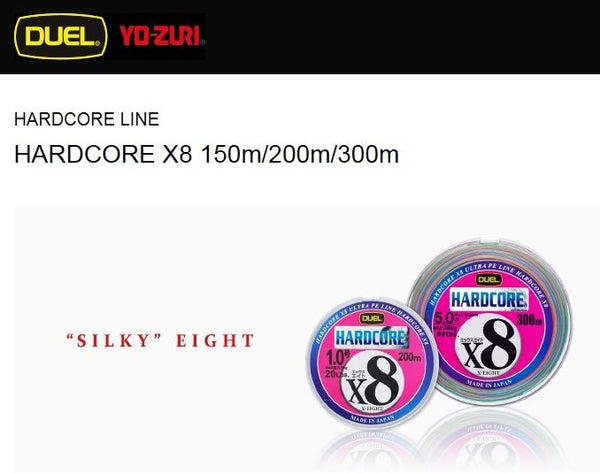Duel Hardcore X8 Micro Pitch 8 Braided PE Line 150m