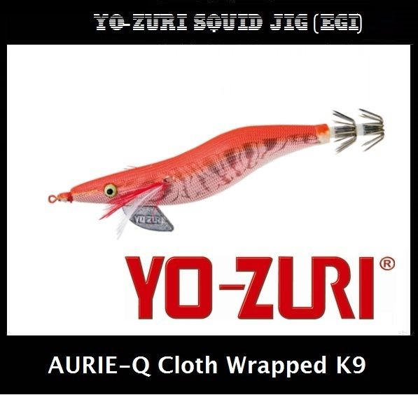 Yo-zuri Aurie-Q Cloth Wrapped Squid Jig Egi K9