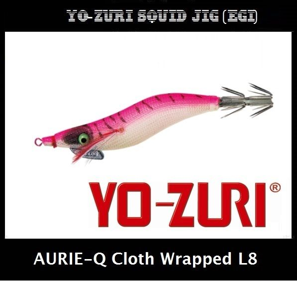 Yo-zuri Aurie-Q Cloth Wrapped Squid Jig Egi L8