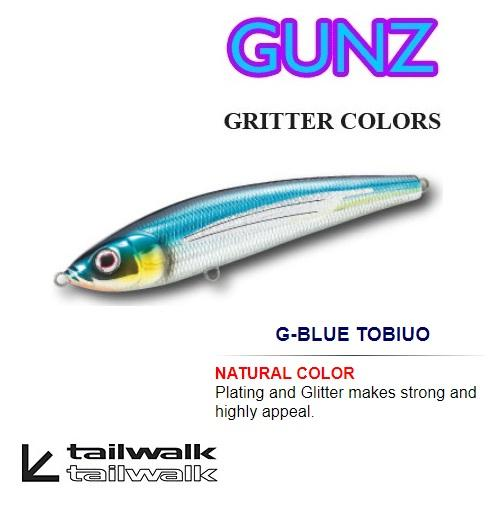 Tailwalk GUNZ GRITTER COLORS SINKING PENCIL (140S 140mm 40g) - Coastal Fishing Tackle
