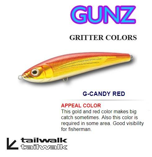 Tailwalk GUNZ GRITTER COLORS SINKING PENCIL (180S 180mm 120g) - Coastal Fishing Tackle