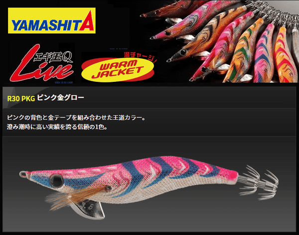 Yamashita Egi-Oh Q Live High Constrast Squid Jig R30 PKG - Coastal Fishing Tackle