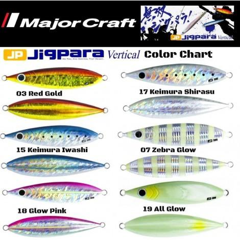 Major Craft Jigpara Vertical jig Slow Pitch 150g - Coastal Fishing Tackle