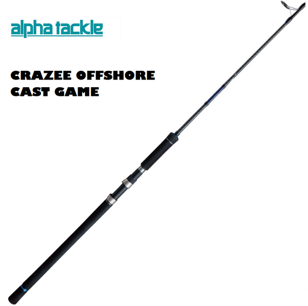 Alpha Tackle CRAZEE OFFSHORE CAST GAME Rod