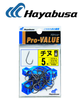 Hayabusa Chinu Straight Bar Bream Hooks Top Rank Black