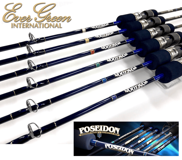 EverGreen Slow Pitch Jigging Rod Poseidon Slow Jerker PSLJ 603-4