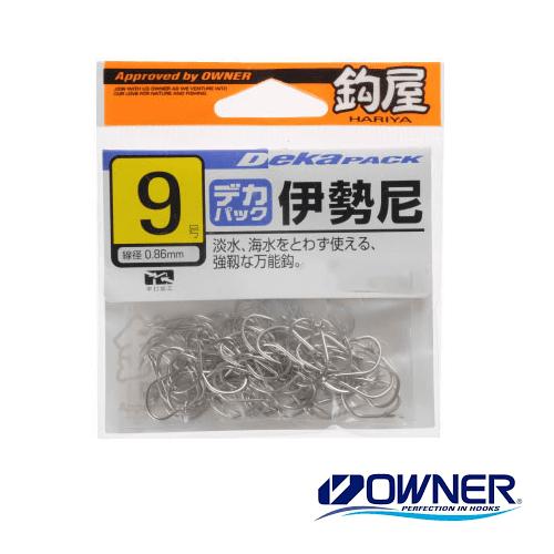 Owner Value Pack Flat Eye Iseama Hooks White 11342 - Coastal Fishing Tackle