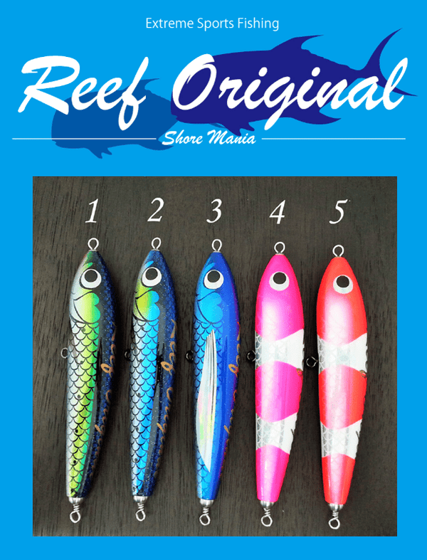 Reef Original Handmade Wood Lure - Diving Pencil A-Type 170 - Coastal Fishing Tackle