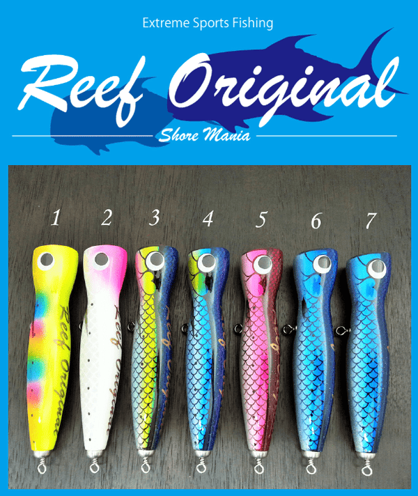 Reef Original Handmade Wood Lure - Slim Popper 170 - Coastal Fishing Tackle