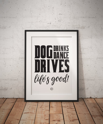 Dog Dance Drives Posters - Coaster