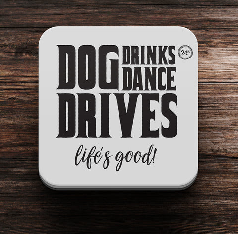 Dog Dance Drives Coaster cum Magnet - Coaster