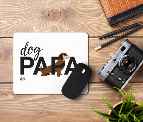 Dog Papa Mousepad