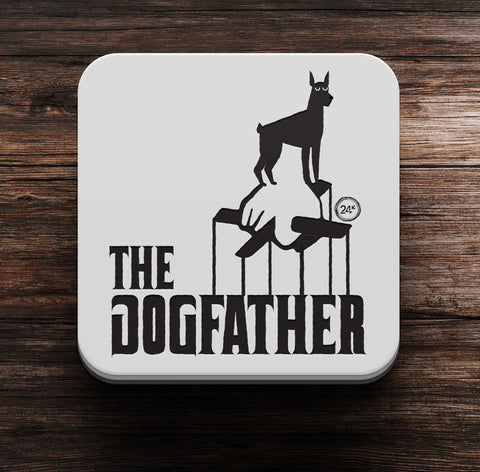 Dogfather Coaster and Magnet - Coaster