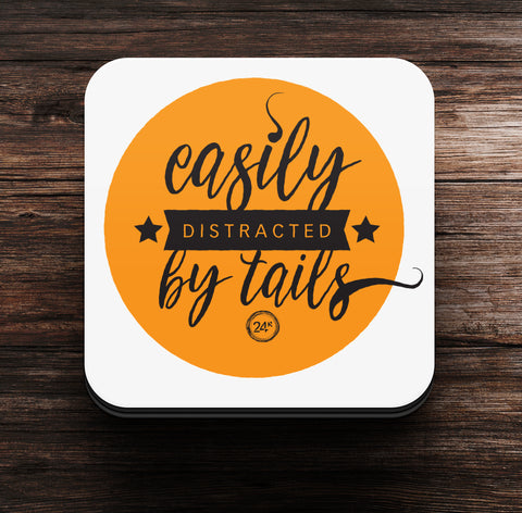 Easily Distracted by Tails Coaster cum Magnet