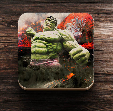 Hulk Smash Coaster and Magnet - Coaster