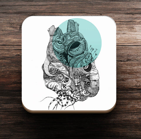 Night Owl at Heart on Coaster and Magnet - Coaster
