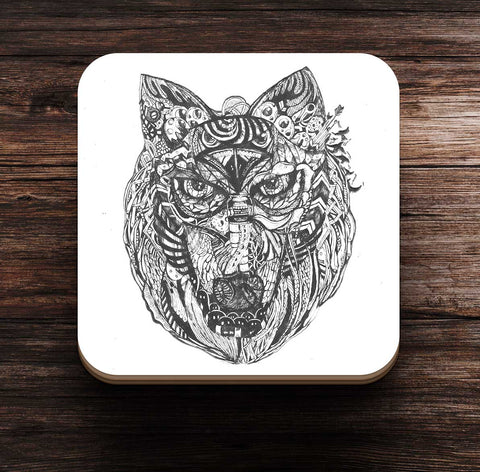 24N Alpha Pack Wolf Coaster by Nitasha