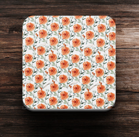 Roses Pattern Coaster and Magnet