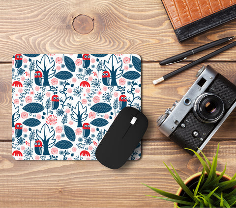 Night and Owl Pattern Mousepad