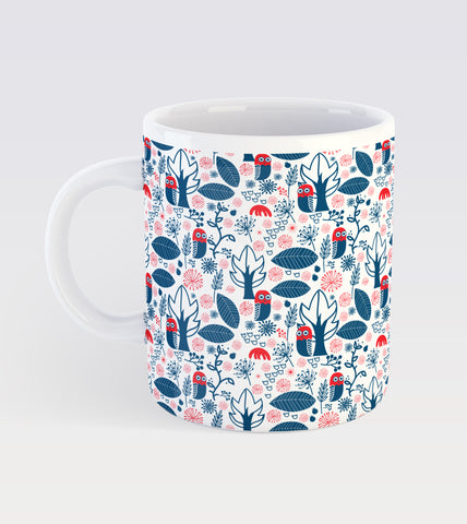 Night and Owl Pattern Mug