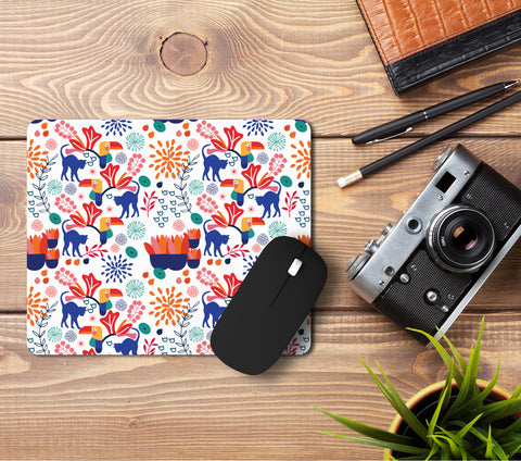 Cat in the Garden (I) Pattern Mousepad