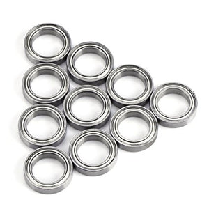 10 Pack 6702-ZZ Stell Deep Groove Ball Bearings 15x21x4mm