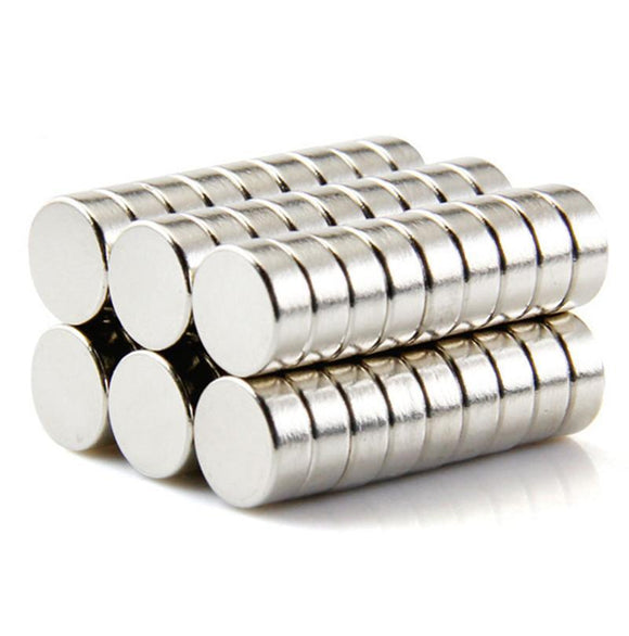 50 Pack Round 10mm x 3mm Neodymium Disc Magnets N50