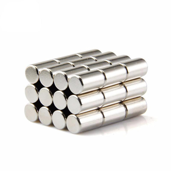 20 Pack Neodymium Magnet Cylinder 6mm X 10mm Rare Earth Strong Magnets
