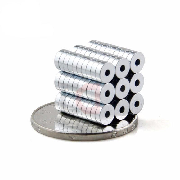 200 Pack Round 5mm X 1.5mm Neodymium Ring Magnets With 1.5mm Hole