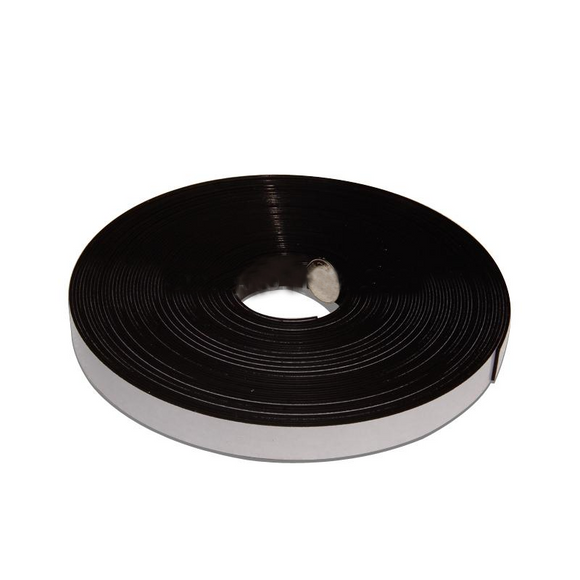 2 Metres of Flexible Rubber Magnetic Strip 20mm x 1.5mm Thickness with Self-Adhesive