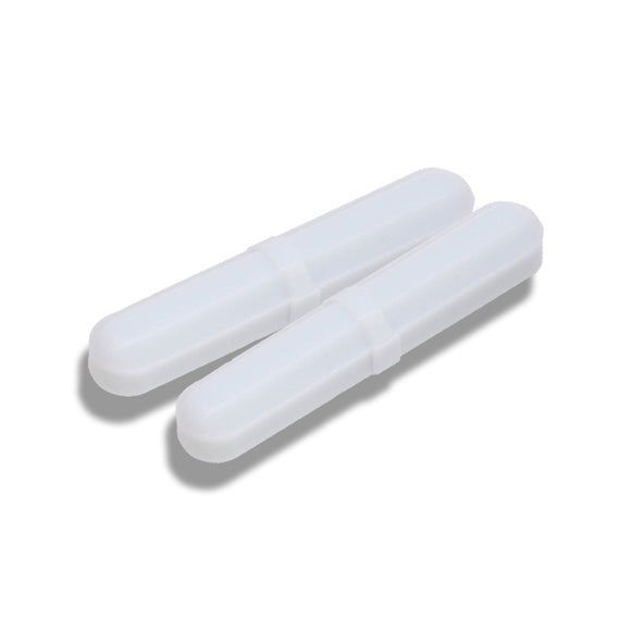 2 Pack 8mm x 30mm Octagonal Magnetic Stir Bars with Pivot Ring