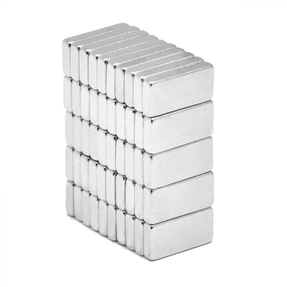 30 Pack Rectangular 10 x 5 x 2mm Neodymium Block Magnets N50