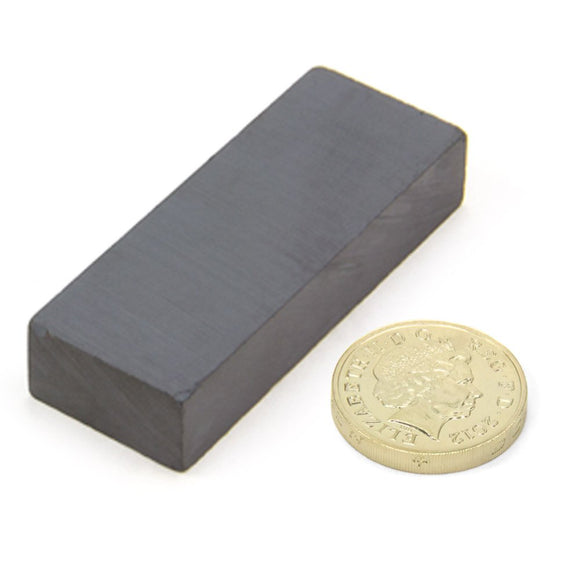 10 Pack Bar 75 x 14 x 8mm Ferrite Block Magnets