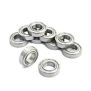 10 Pack 6800-ZZ Steel Deep Groove Ball Bearings 10x19x5mm