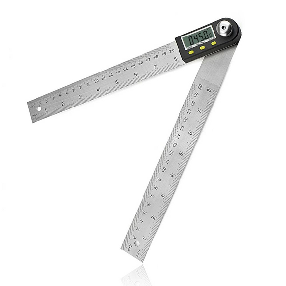 Newacalox 2 in 1 Digital 360° Protractor & 200mm Stainless Steel Ruler