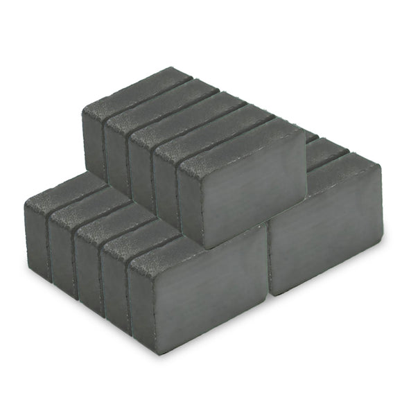 24 Pack Block 40 x 25 x 10mm Permanent Ferrite Magnets C8
