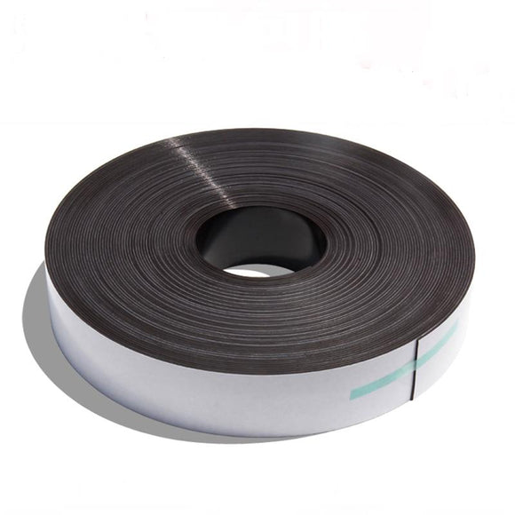 Magnetic Rubber Strip Magnet Tape 2 Meter Roll X 25.4mm Self Adhesive Back