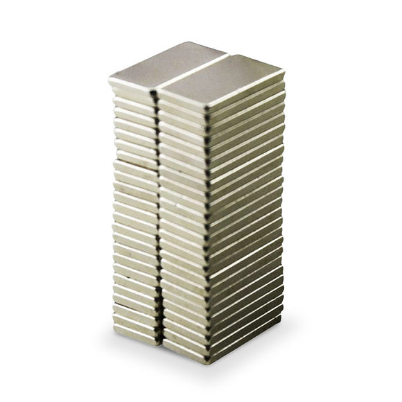 100 Pack Rectangular 20 x 10 x 2mm Neodymium Block Magnets N35