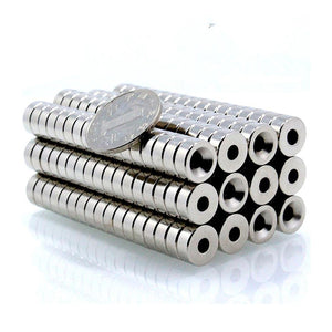 50 Pack Round 12mm x 5mm Countersunk Neodymium Magnets N35 w/ 4mm Hole