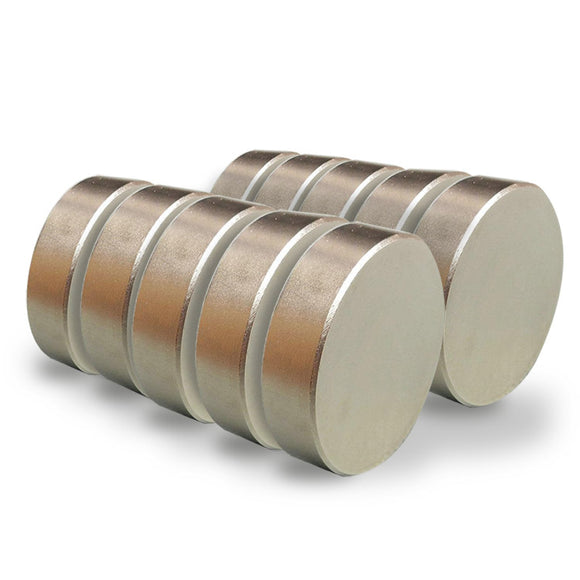 Single Round 40mm x 10mm Neodymium Rare Earth Disc Magnet N52