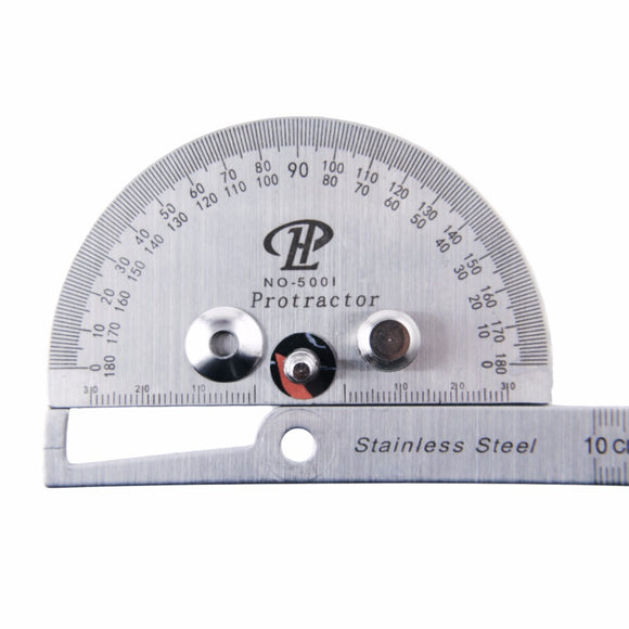 Syuizn Stainless Steel Protractor Ruler 180 Degree Angle Square
