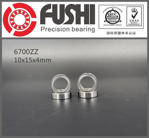 10 Pack 6700-ZZ Steel Deep Groove Ball Bearings 10x15x4mm