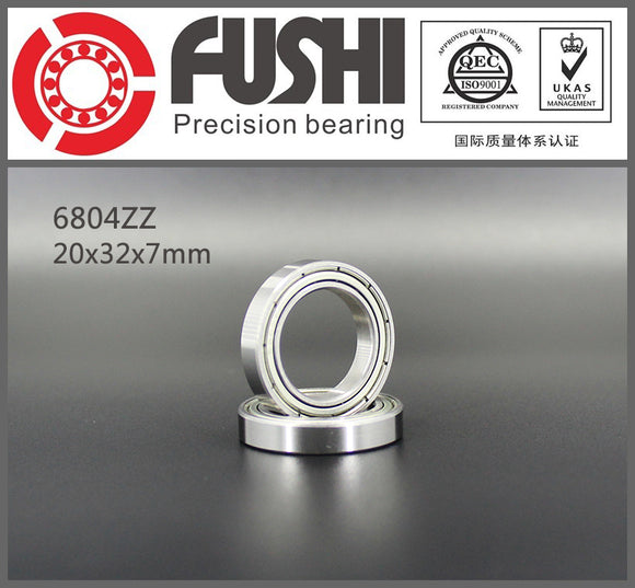 10 Pack 6804-ZZ Thin Chrome Steel Ball Bearings 20x32x7mm