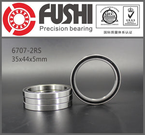 4 Pack 6707-2RS Steel Deep Groove Ball Bearings 35x44x5