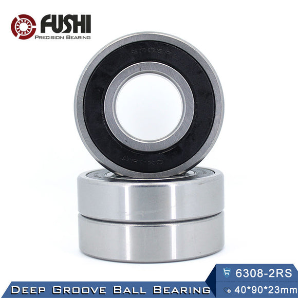 6308-2RS Steel Deep Grove Ball Bearing 40x90x23mm